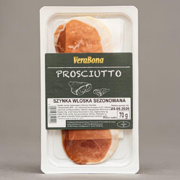 Szynka włoska prosciutto crudo plastry 70g